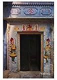 Puzzle 1000 pièces, adultes vieillards Puzzle en bois, pour enfants jouets éducatifs, cadeau, vieilles portes Inde, Varanasi,75x50cm