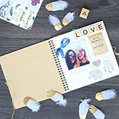 KreativeKraft Scrapbook Accessories Kit with Scrapbooking Supplies, Over 60 Creative Items Including Stickers, Glitter Glue Pens, Paper, Photo Album, Letters, Quotes, Embellishments, Gift for Her #5