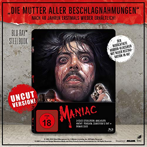 Maniac - Limited 3 Disc Uncut Steelbook inkl. Directors Cut - Bonus Disc - Blu-ray
