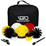 Drill Brush Set For Auto Detailing All In One 11 Piece Kit With Drill Brushes, Extensions, and Carrying Case Wilson Auto Detailing