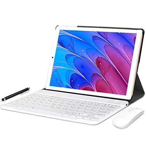 YOTOPT U10 Tablet 10 Pollici con Tastiera e Mouse, Octa-Core, Android 10.0 Tablet 64 GB di ROM, 4 GB di RAM, 4G LTE Dual SIM, WiFi GPS Bluetooth Tipo-c,Colore: (Oro)