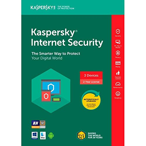 Kaspersky Internet Security 2018 - 3 Devices / 2 Year Coverage (Key...