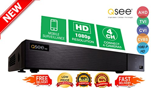 Q-see 4 Channel High Definition 1080P 4 IN 1 Hybrid DVR