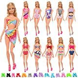 miunana 10 costumi da bagno (4 one piece + 6 bikini) per 11.5 pollici / 30 cm bambola