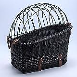 yasion Dog Basket for Bicycle, Dog Rear Bike Basket Small Wicker Bike Baskets...