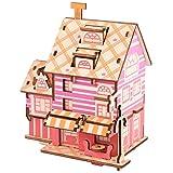 Mothcattl Casa De Muñecas De Bricolaje Mini Cabaña con Muebles, Casa De Madera En Miniatura En 3D, Modelo De Rueda del Cielo, Juego De Rompecabezas En 3D, Juguete De Bricola I