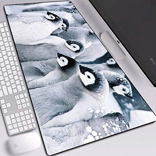 Mouse Matt Mouse Pad Cute Penguins Pattern Non-Slip Locking Edge Nature Rubber Pads Pc Laptop Desk Mat For Children-400X900X3Mm