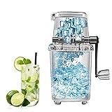 SXFGL Eiscrusher Maschine Manuell,Tragbar Ice Crusher Handgekurbelt Eiszerkleinerer Schneekonusmaschine, Eismaschinen-Küchenwerkzeug für kalte Getränke auf Bar-Restaurantpartys (Transparent)