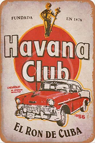 None Brand Havana Club Blechschild Retro Blech Metall Schilder Poster Deko Vintage Türschilder Schild Warnung Hof Garten Cafe Toilette Kneipe Club Geschenk