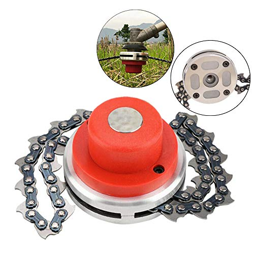 KBINGO 65Mn Garden Lawn Trimmer Head Coil Chain Suitable for Chain Brush Cutter & Grass Trimmer & Weed Eater & Chain Mower, Straight Shafts Garden Pole Tools Replacement Part Accessory
