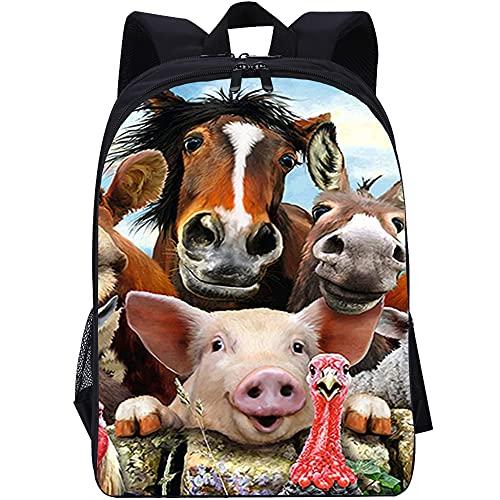 ZFWEI Mochila para la vida diaria Aves de corral animal para adolescentes, bonita mochila con estampado, mochila para ordenador portátil, mochila informal de viaje para mujer