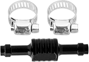 Blue Turbo Boost Pressure Increase Valve Boost Increase Valve Kit With Clamps for Chevy GMC Duramax 6.6L LB7 2001-2004(Black)