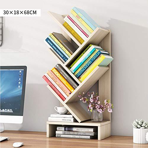 Chercand Boekenkast, MDF-vorm, boekenkast, bureau van hout, boekenkast, meerdere rijen, ruimtebesparend, organizer