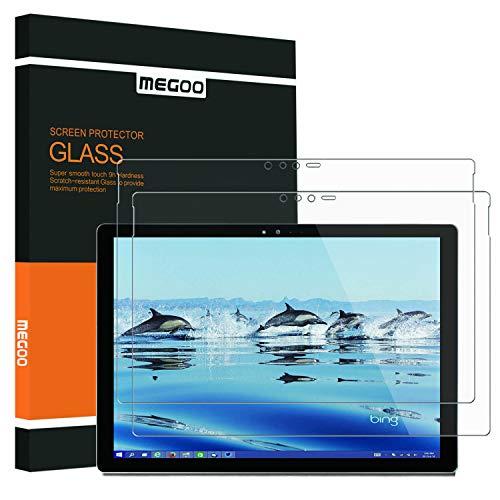 [2 Stück] Screenschutzfolie für Microsoft Surface Pro 6/5/4[Gehärtetes Glas] Ultra klar, Anti-Scratch, Hochsensibel -12.3 Zoll (1724/1796/1807 Model)