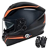 FreedConn Bluetooth Motorcycle Helmet DOT Full Face...
