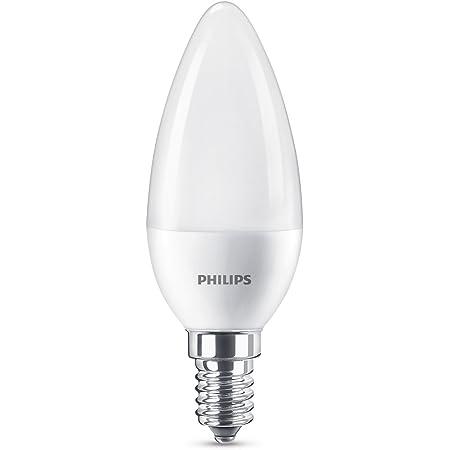 Philips Lighting 8718696702871 Philips Ampoule LED E14, 7W équivalent 60W, Plastique, blanc, 11,4 x 3,8 cm