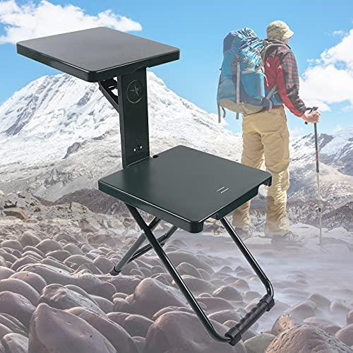 Taburete plegable barbacoa al aire libre camping silla plegable taburete/silla/mesa 3 IN1. retráctil y ajustable al aire libre camping asiento taburete 32*32CM silla de playa silla de pesca