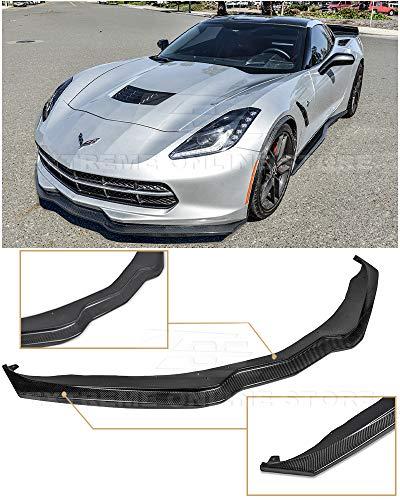Extreme Online Store for 2014-2019 Chevrolet Corvette C7 | Z06 Z07 Stage 2 Style Carbon Fiber Front Bumper Lower Lip Splitter