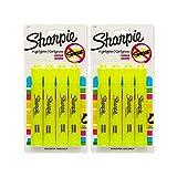 Sharpie Accent Tank surligneurs, pointe biseautée, Jaune fluorescent, 4-count 2 Pack jaune