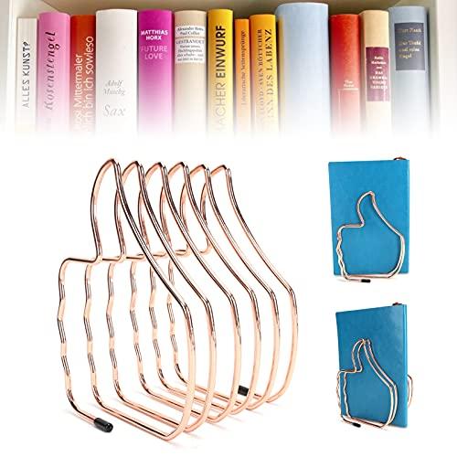 Liyeehao Scaffale per Libri in Ferro battuto, Supporto per cartelle in Metallo a Forma di Pollice Multiplo antiruggine e antisbiadimento Retrattile per Scene d'ufficio