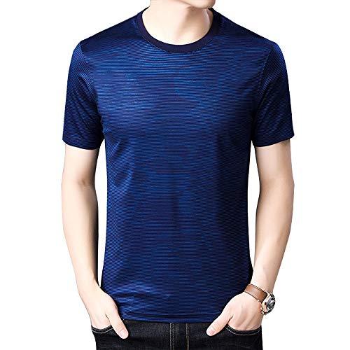 Camiseta Casual para Hombre Camisets Cómoda con Cuello Redondo Manga Corta Elásticas