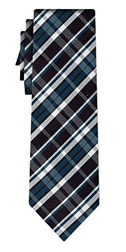 Cravate soie tartan pattern black navy