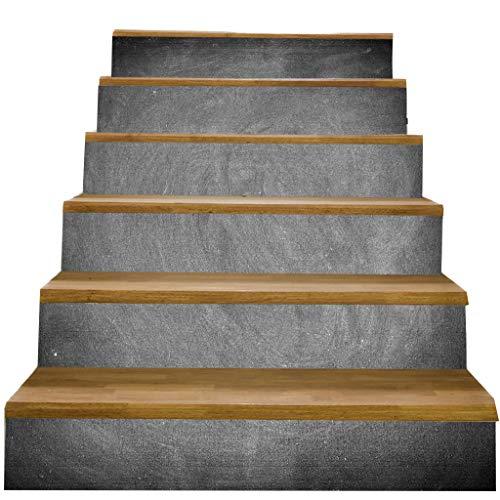 F Fityle 6pcs PVC Selbstklebende Treppenaufkleber Treppen Aufkleber Stickers für Treppenstufen - l