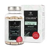 ASOYU 120 Hyaluronsäure Kapseln mit dem natürlichen Plus - Hochdosiert mit 400mg pro Tagesdosis - Vegan - 2 Monate - Mit Goji, Ginseng, Biotin und Zink - Für Haut, Beauty, Anti-Aging