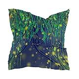 Linomo Bufanda de seda de gasa para mujer, diseño de árbol de galaxia con hojas de chal cuadrado