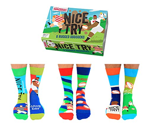 Rugby Oddsocks Socken in 39-46 im 6er Set - Strumpf