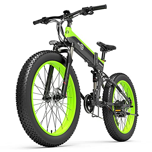 Lixada Bicicleta Eléctrica de Asistencia 1000W 26 Pulgadas Bicicleta Eléctrica Plegable Ciclomotor E-Bike 12.8AH Batería 100km Alcance