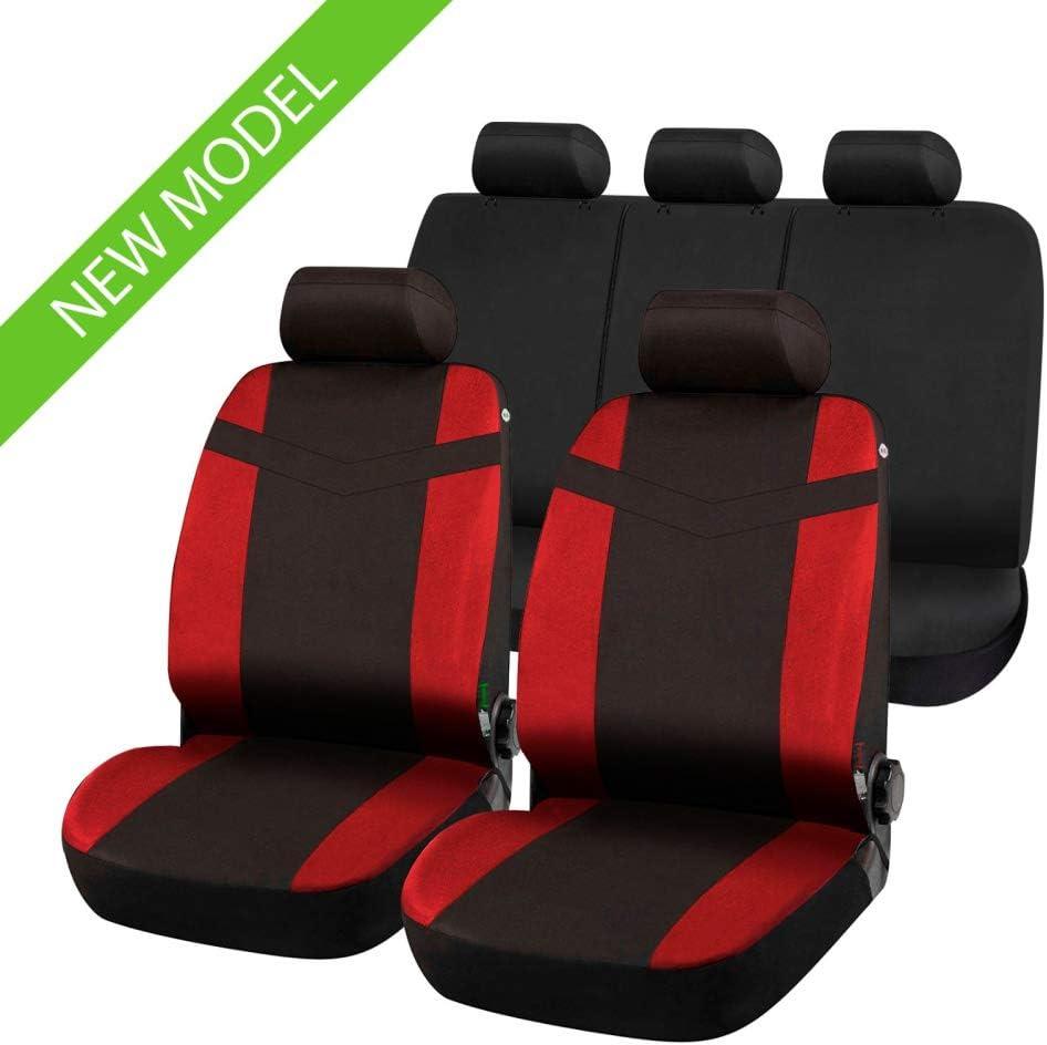 Coprisedili Anteriori compatibili per L200 Versione III con Fori per i poggiatesta e bracciolo Laterale 1996-2006 compatibili con sedili con airbag