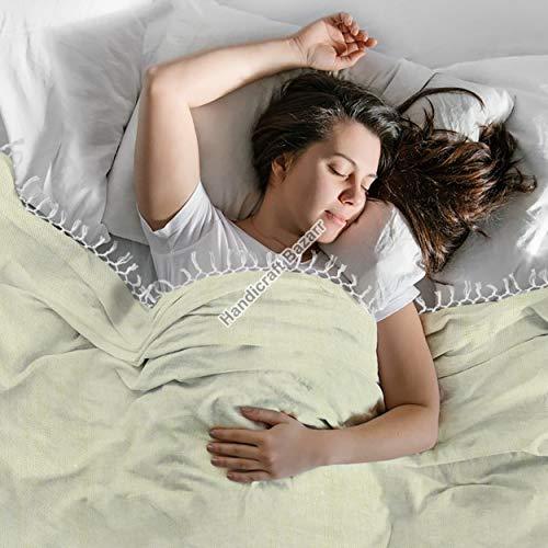 Handicraft Bazarr Tapiz de algodón suave al tacto para cama de 200 x 150 cm, fundas de edredón de algodón vintage
