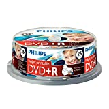 Philips DVD+R Blank Discs (4.7 GB Data/120 Minutes Video, 16x High Speed Recording, 25 Spindle, Inkjet Printable)