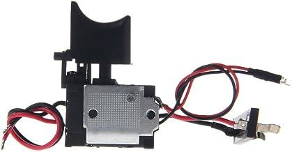 BIlinli Taladro eléctrico a Prueba de Polvo Control de Velocidad Botón pulsador Interruptor DC 7.2-24V