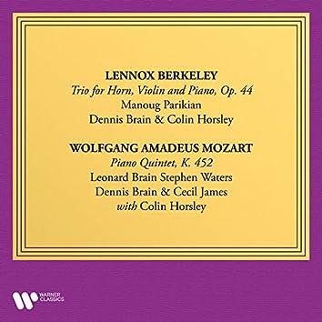 Berkeley: Trio for Violin, Horn and Piano, Op. 44 - Mozart: Piano Quintet, K. 452