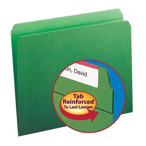 Smead File Folder, Reinforced Straight-Cut Tab, Letter Size, Green, 100 per Box (12110) Photo #8