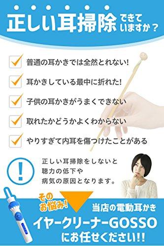 EMILEAD電動耳かき吸引イヤークリーナーGOSSO専用ケース付EM-003(ブルー)