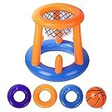 A/A enjoymentlin - Basquetbol inflable de baloncesto con marco para arcos de meta para niños, juegos de agua interactivos