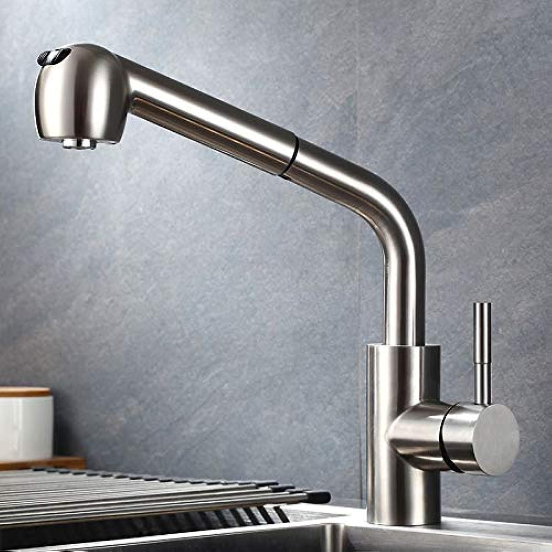 ROKTONG Kitchen Sink Taps Kitchen Sink Taps Kitchen Sink Taps ,304 Stainless Steel Brushed Kitchen Sink Sink redating Faucet