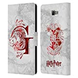 Head Case Designs Officiel Harry Potter Gryffindor Aguamenti Deathly Hallows IX Coque en Cuir à...