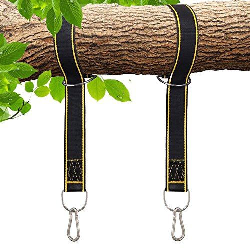 Rhino StrapMate Tree Swing Straps Hanging Kit – Two 4ft Strap, Holds 2800 lbs (SGS Certified), Fast & Easy Way to Hang Any Swing – Outdoor Swing Hangers