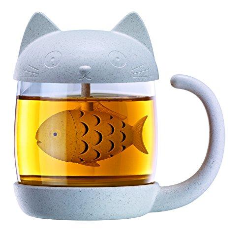 Winkee Tee Becher Katze mit integriertem Tee-Ei | Tea Cup