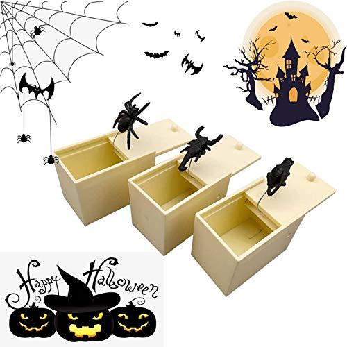 Fun Happy Joke Boxes Spider Prank Scare Box Rubber Spider Prank Happy Box Handmade Fun Practical...