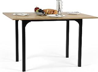 MEUBLE COSY Table salle à manger extensible Bureau Informatique Rectangulaire Console Entrée en Chêne, MDF, 60-120x90x75-77cm
