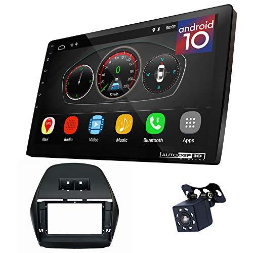 UGAR EX10 10 pollici Android 10.0 DSP Navigazione GPS per Autoradio + 11-070L Kit di Montaggio compatibile per HYUNDAI iX-35, Tucson (LM) 2010-18