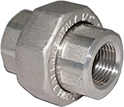 Stainless Steel 316 Forged Pipe Fitting, Union, 1/2