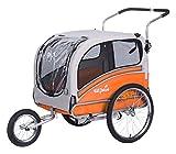 Sepnine Pet Dog Bike Trailer, Orange/Grey
