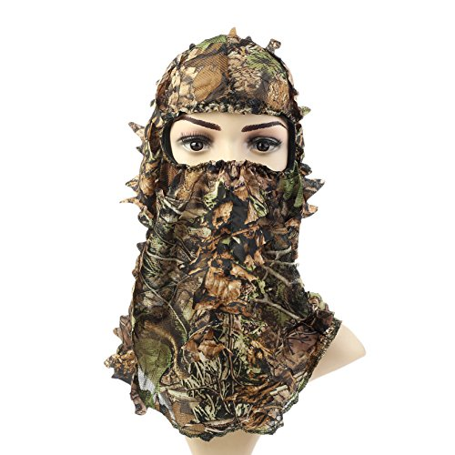 ABCAMO Light Weight Hunting Camouflage Full Cover 3D Leafy Head Hood Head Cap Hood Hat