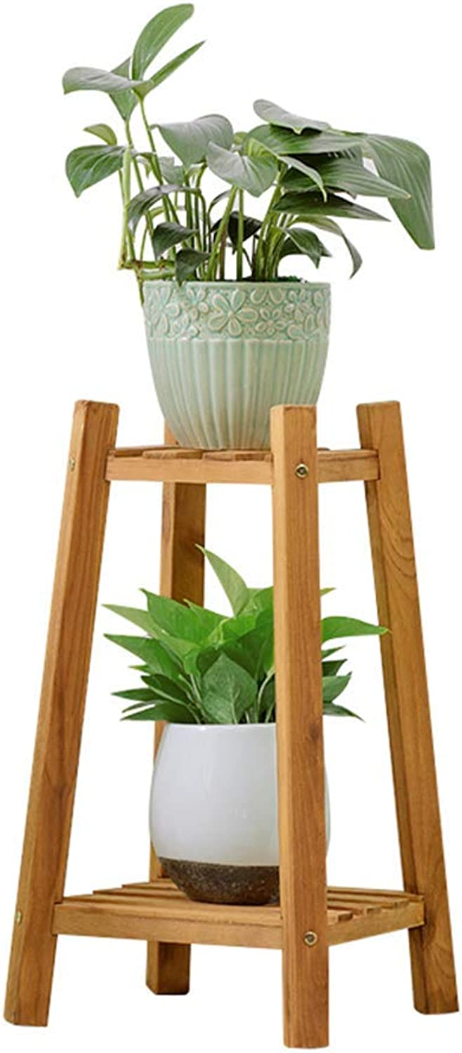 BXJ Flower Stand Solid Wood Multi Layer Landing Flower Pot Holder Balcony Living Room Indoor Decoration (Size   30X30X60cm)